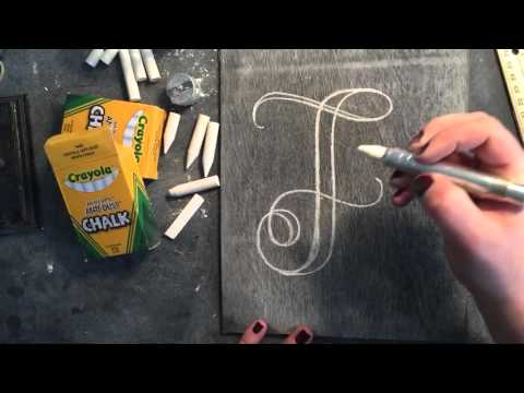 SheShe Design Chalk Script Lettering UPPERCASE F