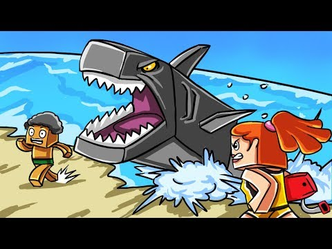 Minecraft Zoo - STOP THE SHARK FROM ATTACKING THE BEACH! (Minecraft Roleplay)