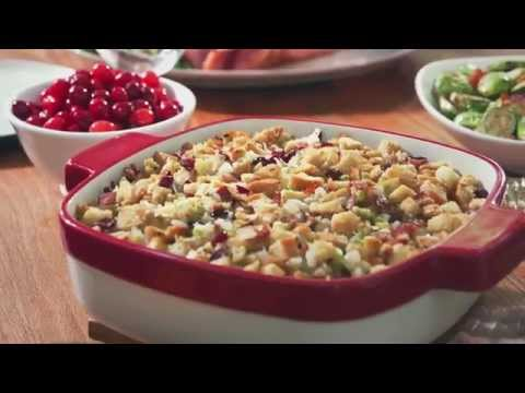 Apple Cranberry Stuffing with Bacon | BetterThanBouillon.com