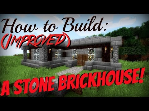 Minecraft How To Build | A Stone Brick/Spruce Wood House! (Improved)