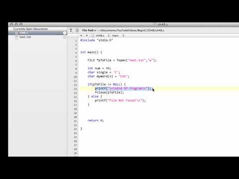 Beginning C Programming - Part 48 - Writing Strings To File