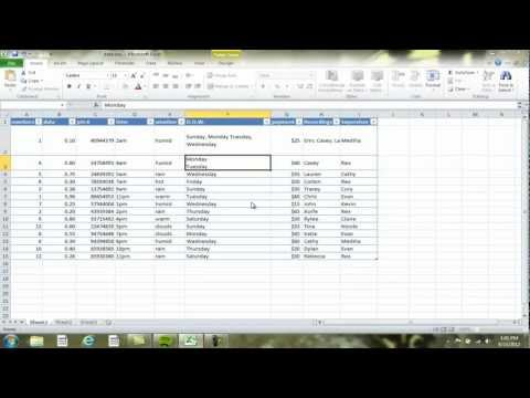 Tips for Wrapping Text and Forcing Line Breaks MS Excel 2010