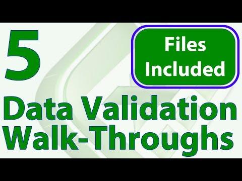 5 Data Validation Walkthroughs - Including 4 Custom - Workbook Included