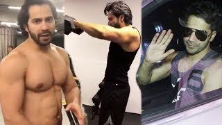 Varun Dhawan Spotted After HARDCORE Workout Outside His GYM