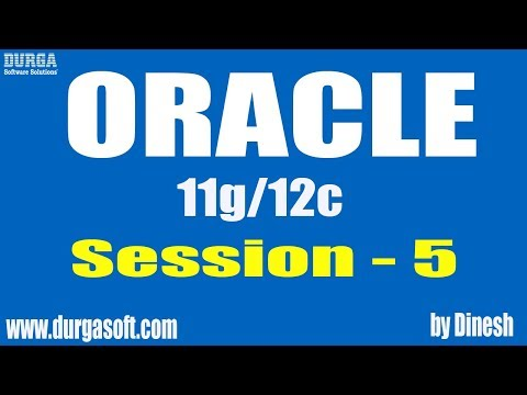 Oracle || Oracle Session-5 by Dinesh
