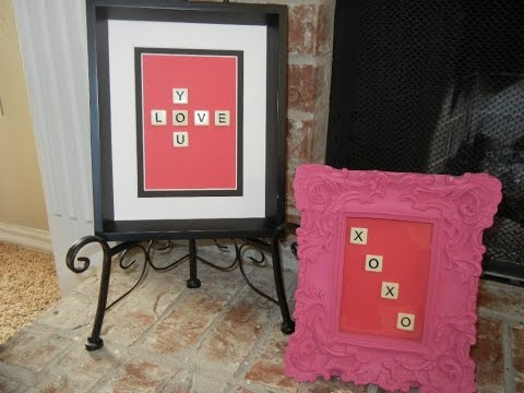 Valentine's Day DIY: Scrabble Letter Picture Frame for SUPER CHEAP