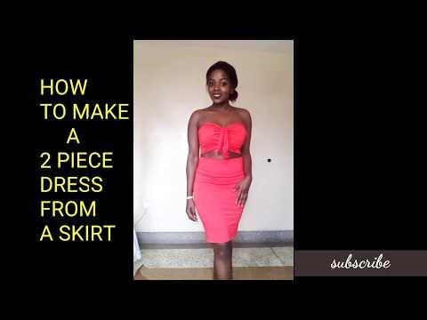 DIY.From A Skirt Into A 2 Piece Dress