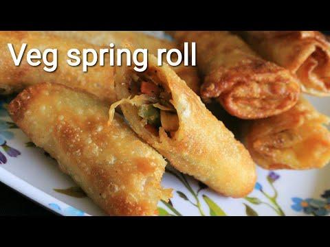 Veg spring roll recipe - Vegetable spring roll with homemade spring roll sheets - Spring roll recipe