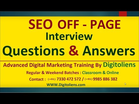SEO Off Page Interview Questions and Answers
