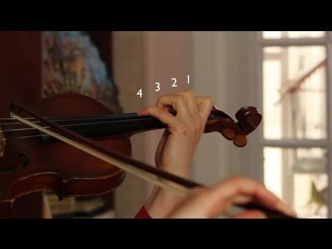 How to Play A, B, C and D on the G Violin String : Violin Concepts
