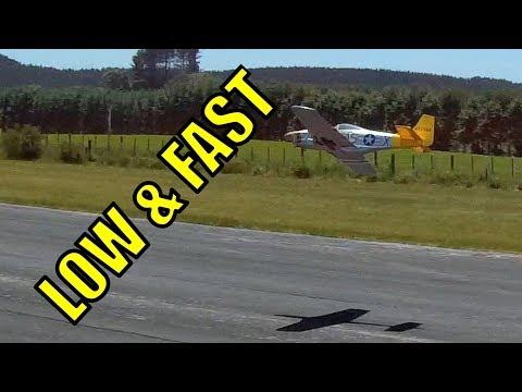 Nitro P51 RC plane, low and fast