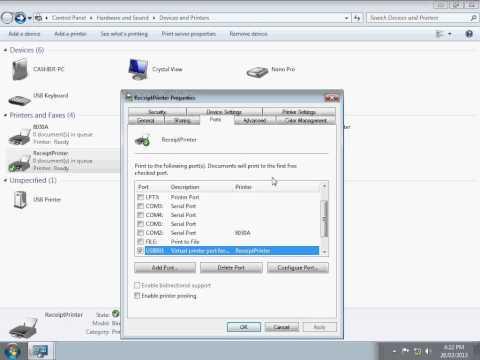 How to setup USB Printer Port)