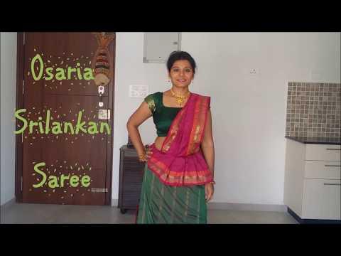 Draping an OSARIA or KANDYAN Saree