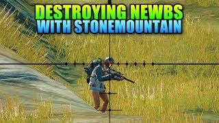 Destroying Newbs With StoneMountain64   PlayerUnkown