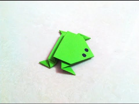 How to make an origami paper frog   Origami / Paper Folding Craft, Videos and Tutorials.
