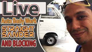 Live Auto Bodywork Straight Sanding And blocking
