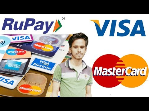 MasterCard VisaCard RupayCard   What is the Difference.