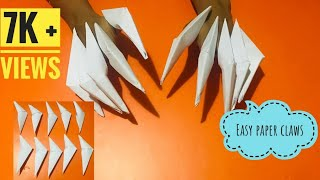 How To Make Origami Dragon Claws    Very Easy Paper Dragon Claws ...   180x320