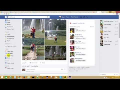 How to create web page on facebook