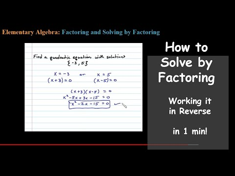 Find a Quadratic Equation with Given Solutions