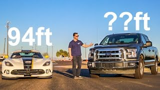 Can You Make A Ford F150 Stop Faster Than a Viper?