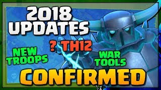 """NEW """"Clash of Clans"""" UPDATES [2018] - New Troops, ? TH12, BH8, War Tools - Exciting Updates for CoC!"""