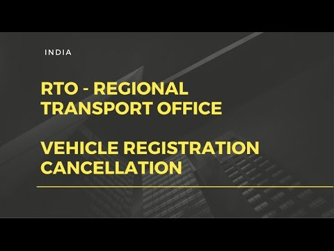 RTO INDIA - Vehicle registration cancellation / submitting RC card .
