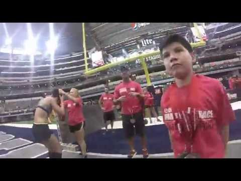 Spartan Race AT&T Stadium Sprint 2016 Dallas TX  6-18-16 (Gopro Footage)