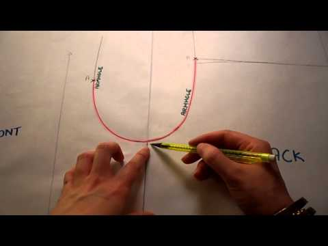 Pattern Cutting Tutorial: How To Add A Yoke To A Back Bodice And A Dart Into Armhole