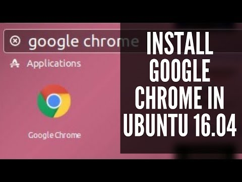 How to Install google chrome in ubuntu 16.04