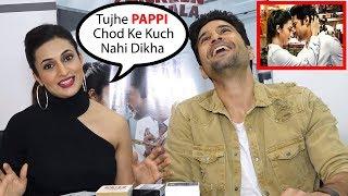 Divyanka Tripati FUNNY Reaction On Kissing Rajeev Khandelwal In Cold Lassi Aur Chicken Masala