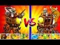 Plants vs Zombies 2 Dr. Zomboss - Pirate vs Wild West Zombot Challenge Power UP Plants PVZ 2