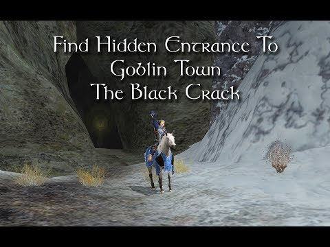 LOTRO Find Black Crack Entrance to Goblin Town - Misty Mountains