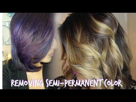 Removing semi permanent color + how I toned my hair