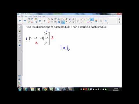 Algebra II sec4 3 part2 Multiplying Matrices