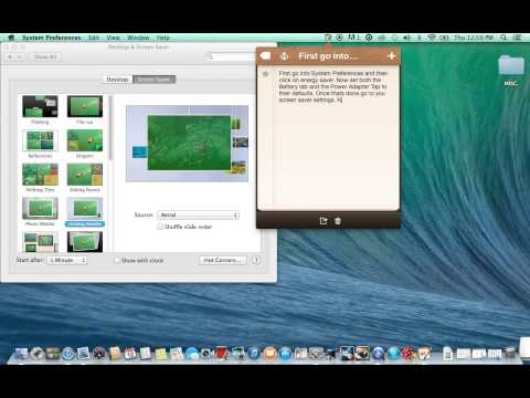 How To Set Your Screen Saver To Come On: Mac Instructional Video