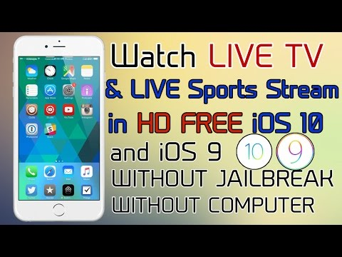 NEW Watch Live Cable TV & Live Sports FREE iOS 10 - 10.2 / 9 (NO JAILBREAK) iPhone, iPad, iPod