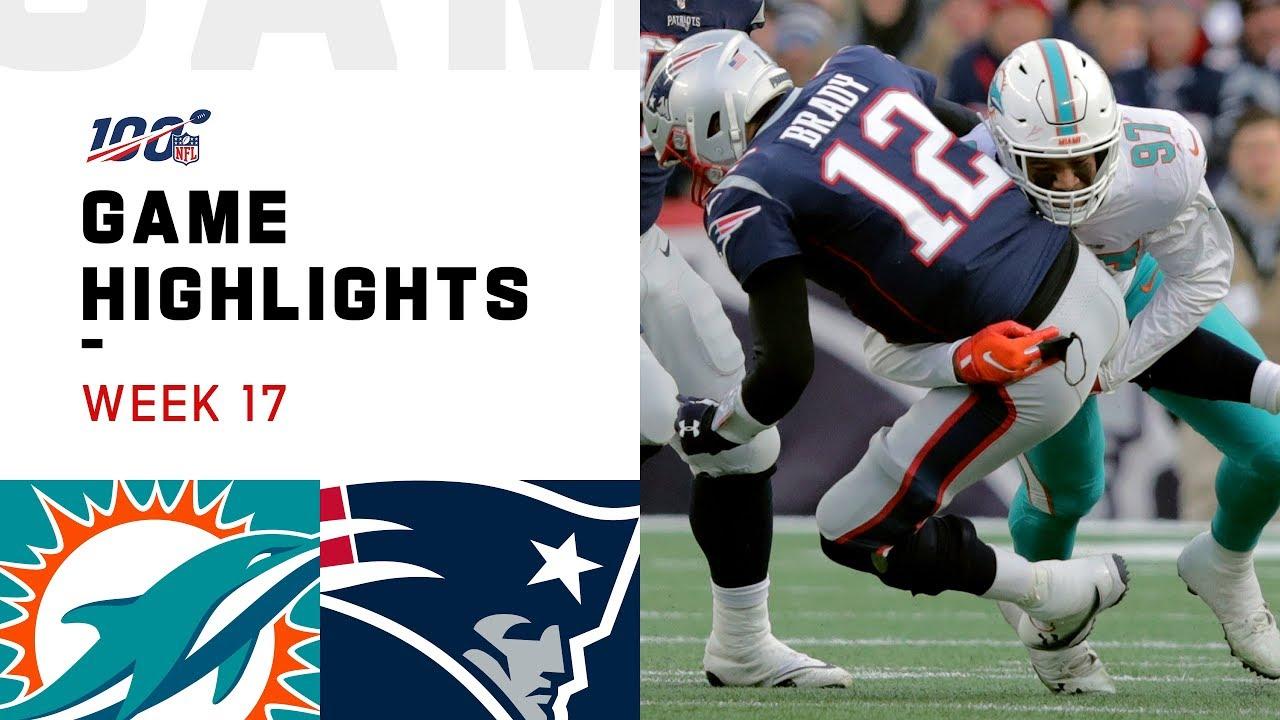Dolphins vs. Patriots Week 17 Highlights   NFL 2019