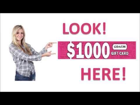 Coach Gift Card Worth $1000 | Get Coach Bags With FREE Coach Gift Cards
