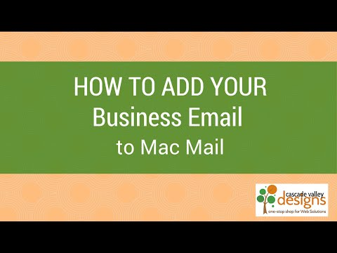 How to add your Business or Domain Email to MacMail