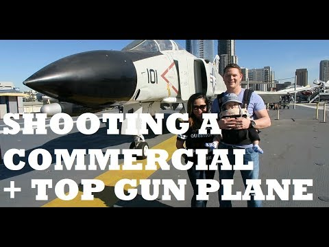 SHOOTING A COMMERCIAL + TOP GUN PLANE AT USS MIDWAY