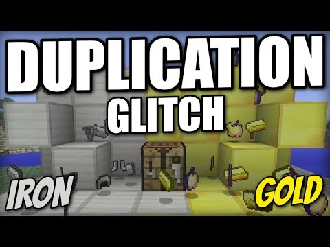 Minecraft Xbox - DUPLICATION GLITCH [ Iron & Gold ] Tutorial - PS4 / Xbox One / PS3 / Switch / Wii U