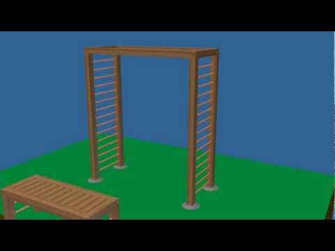 How to Build a Bench and Arbor