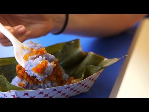 Apparently blue sticky rice is a staple snack in Malaysia