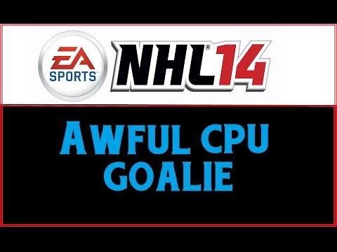 NHL 14: AWFUL CPU GOALIE! [HD]