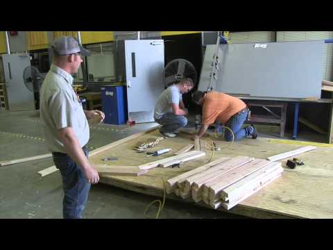 Gambrel roof trusses construction