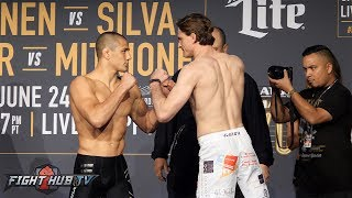 Aaron Pico vs. Zach Freeman - Full Weigh in & Face Off Video