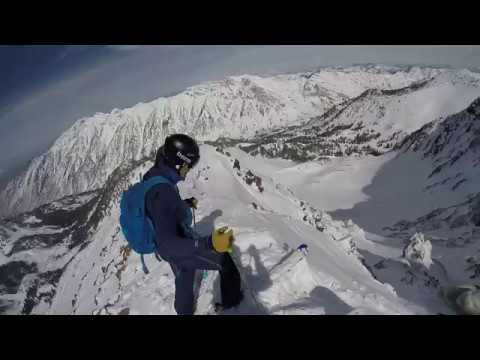 Snowbird Backcountry Skiing Red Stack Steep Chute Above Gad 2 & Little Cloud