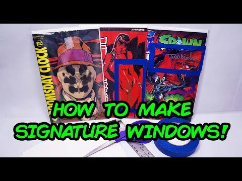 How To Make Comic Book Signature Windows!