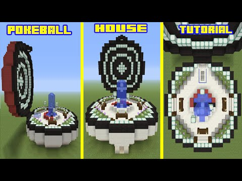 Minecraft Tutorial: How To Make A Pokeball House